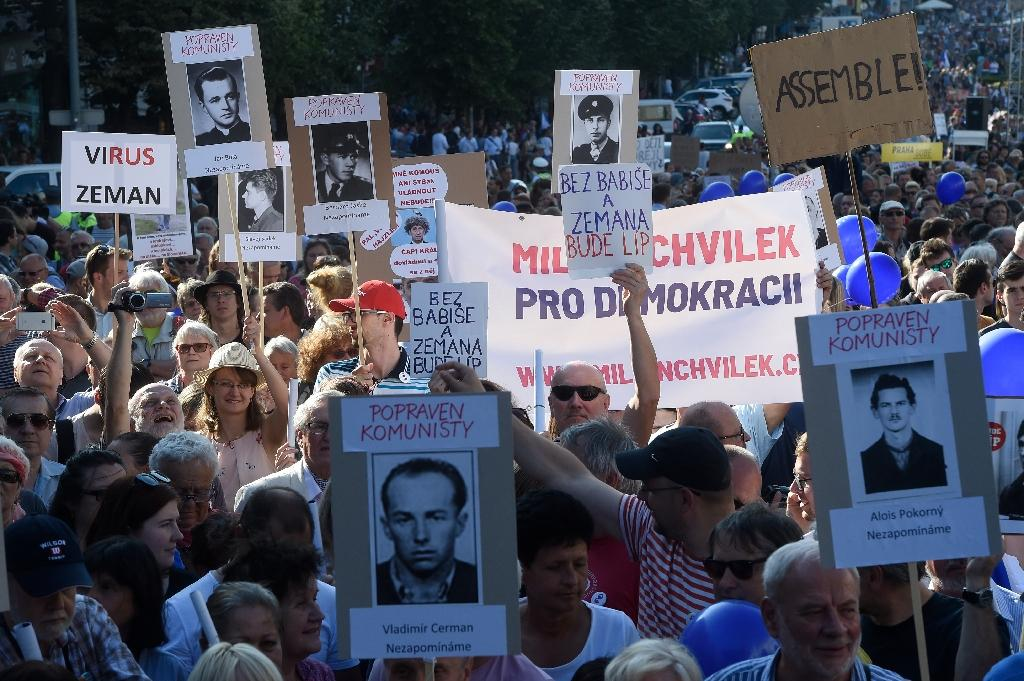 Rallies were held in Prague and across the Czech Republic against the role of the communists in government