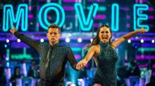 Katya Jones falls over twice in 'Strictly' movie week but insists one tumble was a stunt