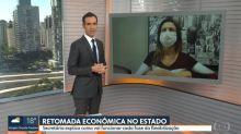 """César Tralli questiona """"retomada econômica"""" em São Paulo e é elogiado"""
