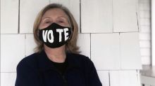 Hillary Clinton shares makeup-free photo wearing 'Vote' face mask, 'the must-have accessory for spring'