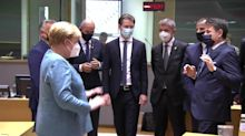Hours Before Trump Tests Positive for the Coronavirus, Merkel Seen Keeping Her Distance From Italian PM