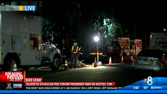 6AM UPDATE | Gas leak prompts evacuation of hotel guests