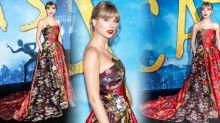 Taylor Swift stuns in Oscar de la Renta gown at Cats premiere