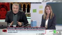 El detalle en su conexión con Ferreras que Susana Díaz no ha dejado al azar en 'Al Rojo Vivo' (La Sexta)