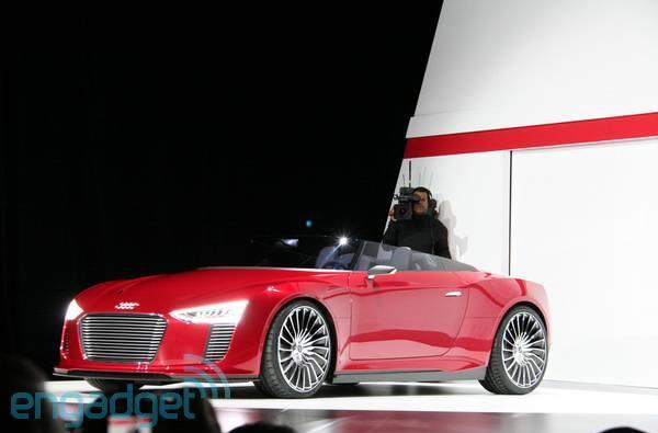 Audi rolls out updated hybrid e-tron Spyder at CES