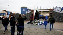 Police investigate after flare set off on Everton's Dean statue