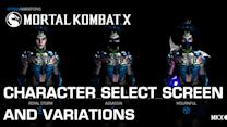 In- Game Character Select Screen and Variations - Mortal Kombat X
