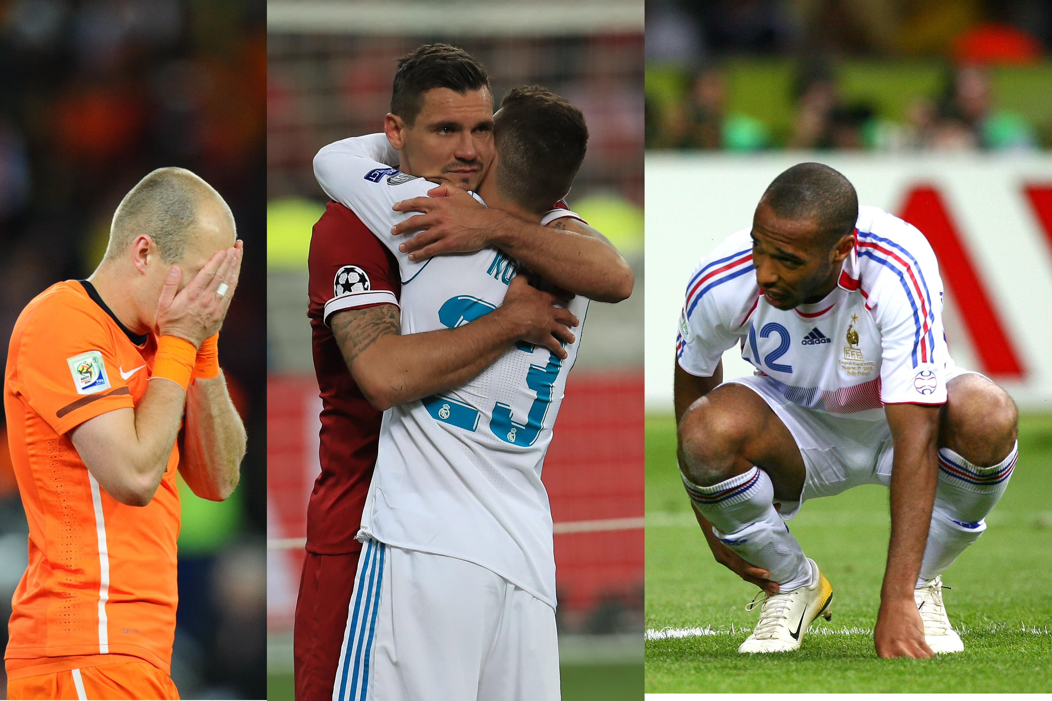 Los 10 futbolistas cayeron en final de Mundial y Champions