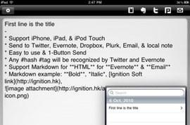 Note & Share for iOS: Markdown, Dropbox, Evernote, and more