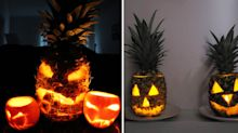 Why are people carving pineapples instead of pumpkins this Halloween?
