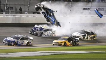 Newman's wreck grim echo of Earnhardt tragedy