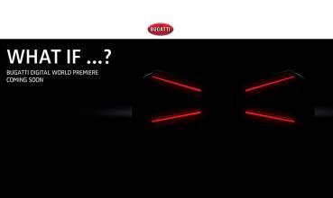 BUGATTI官方釋出全新超跑的預告圖,X造型尾燈引人遐思