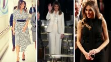 Every time Melania has used her clothes to 'punish' Trump