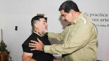 Diego Maradona viajó a Venezuela para brindarle apoyo a Nicolás Maduro