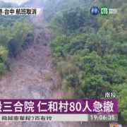 土石流毀宅 80人撤離憂颱風再釀災