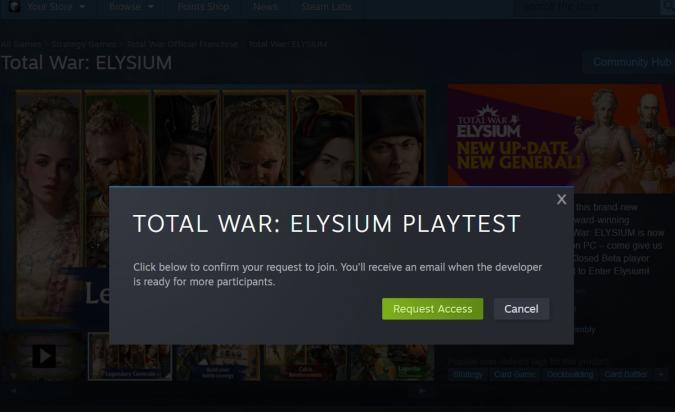 Total War: Elysium Playtest