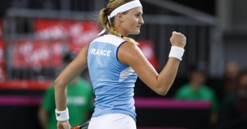 Fed Cup - Barrage de Fed Cup : en démonstration, Kristina Mladenovic lance les Bleues face à l'Espagne
