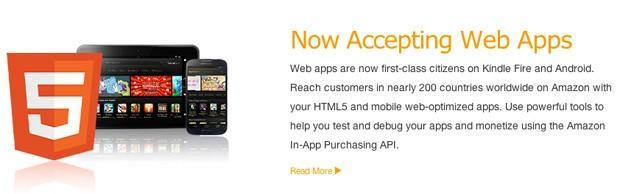 Amazon Appstore now accepts web apps