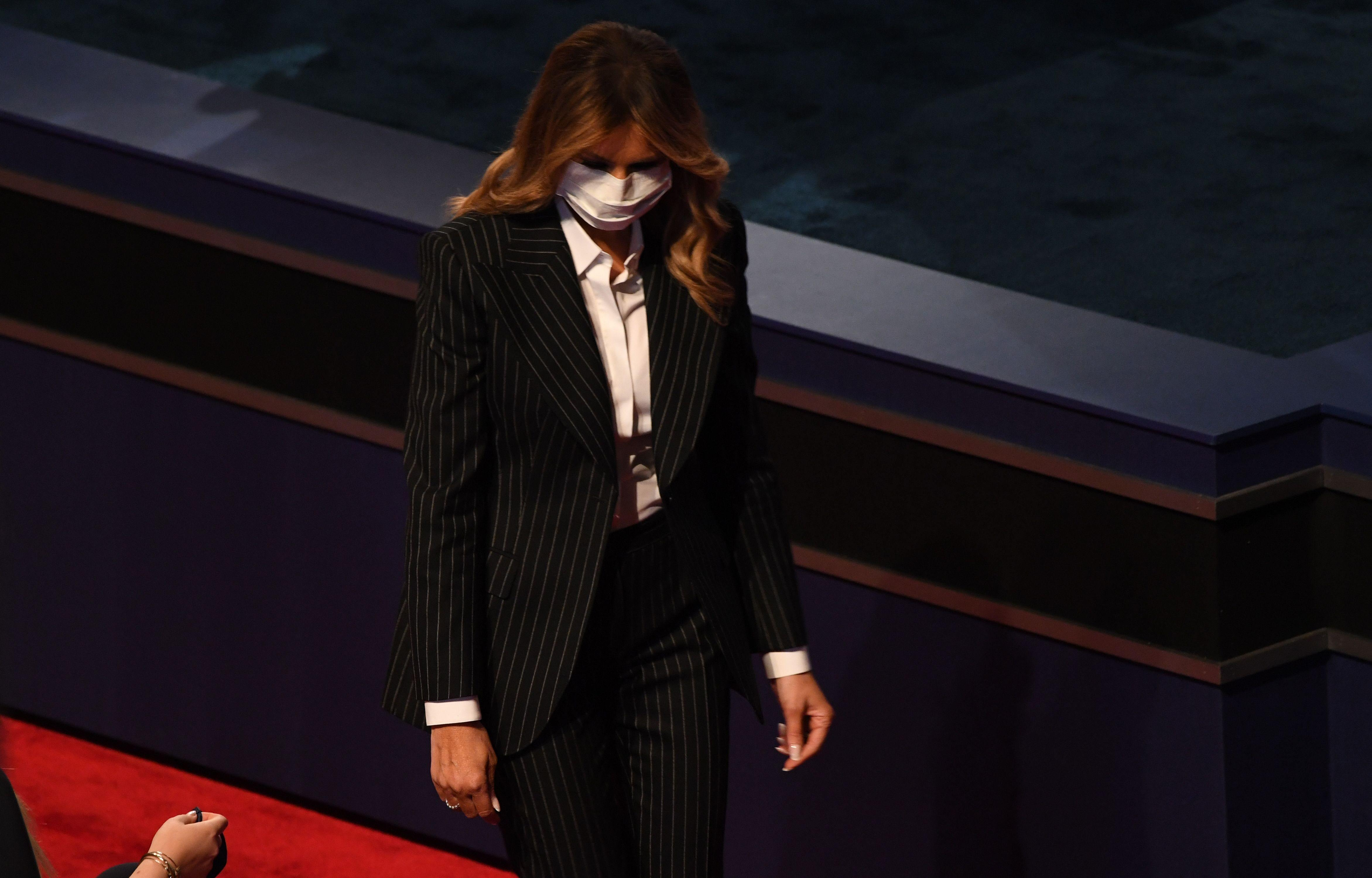 Melania Was the Only Trump Wearing a Mask at the Debate