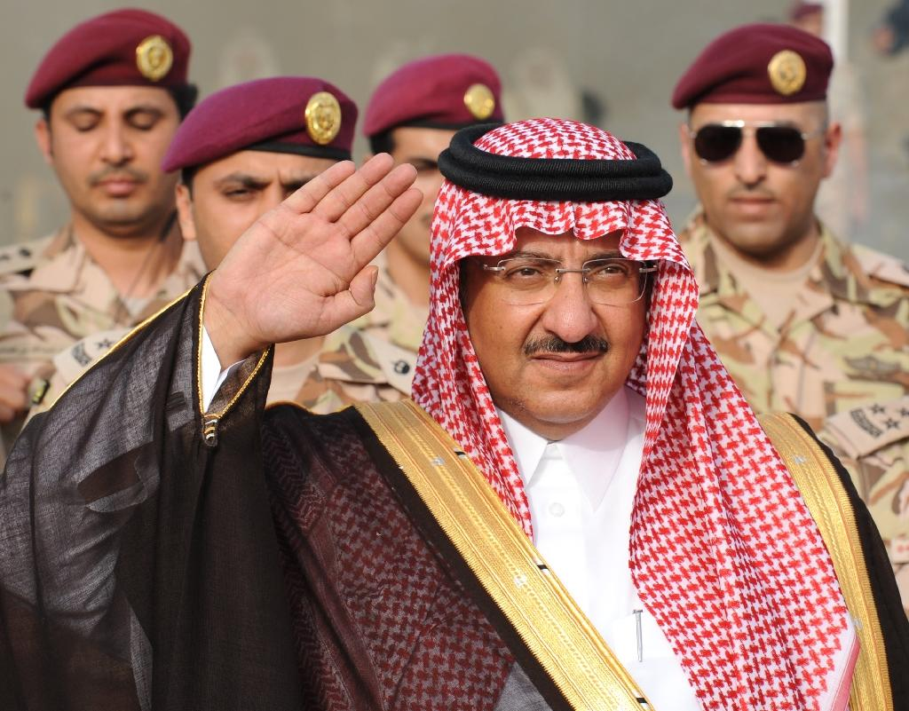 Saudi Crown Prince and Interior Minister Prince Mohammed bin Nayef bin Abdulaziz arrives to attend a graduation ceremony of members of Saudi Special Forces in the capital Riyadh, on May 19, 2015 (AFP Photo/Fayez Nureldine)