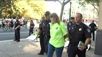 Former Employees Arrested at Walmart Protest