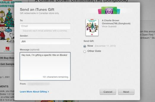 Mac and iOS users can now gift iBooks