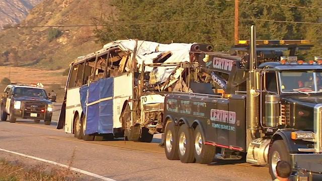 Tour bus crash: NTSB begins investigation