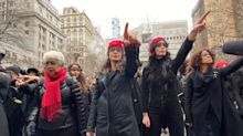 Women Stage Flash Mob Protest Outside Harvey Weinstein Trial