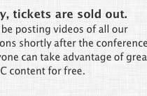WWDC 2012 is sold out