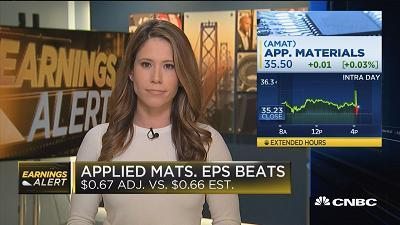 Applied Materials beats on top & bottom lines