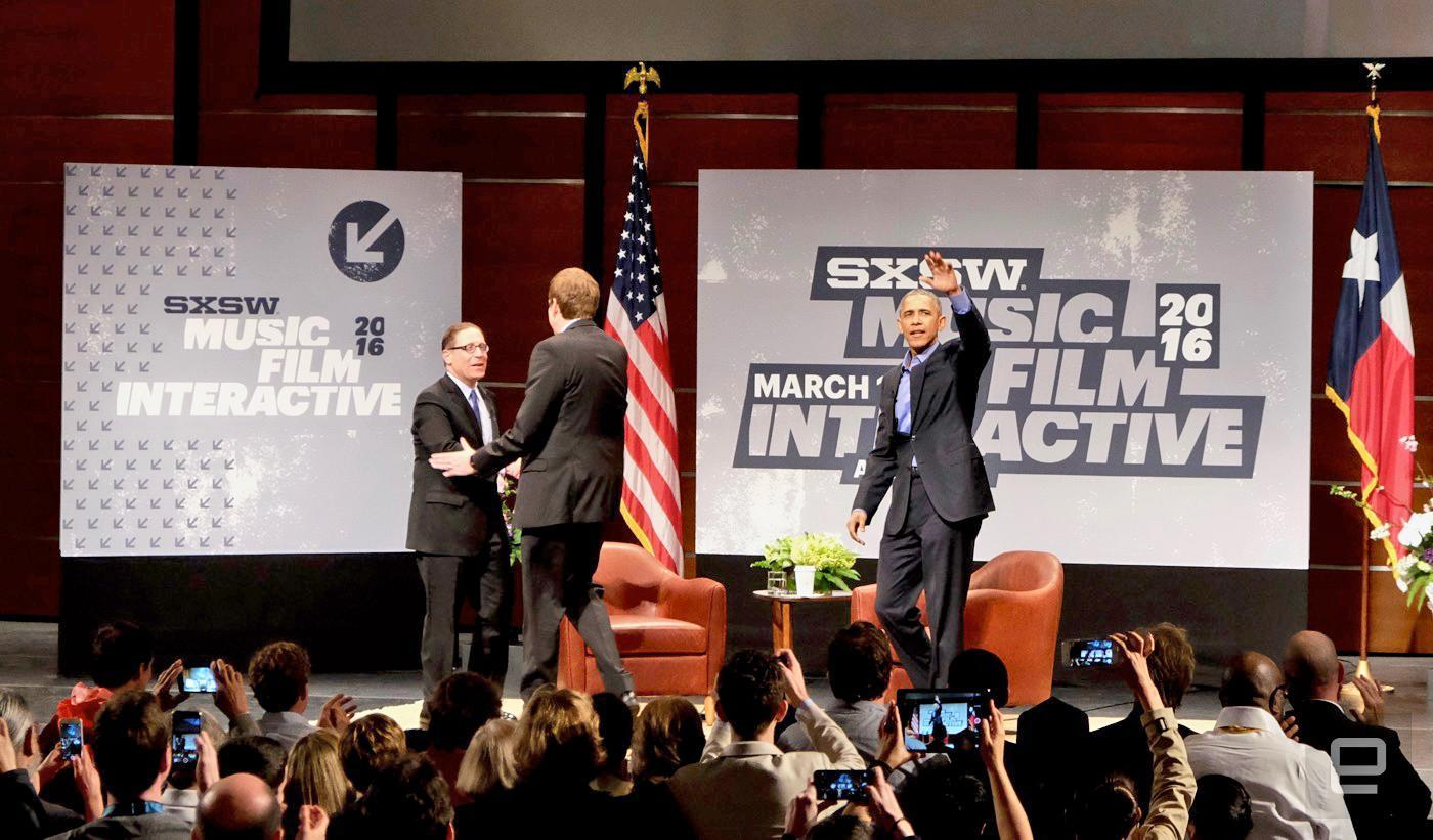 President Obama urges SXSW audience not to be 'absolutists' on encryption