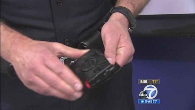 Los Angeles Police Department officers begin wearing body cameras