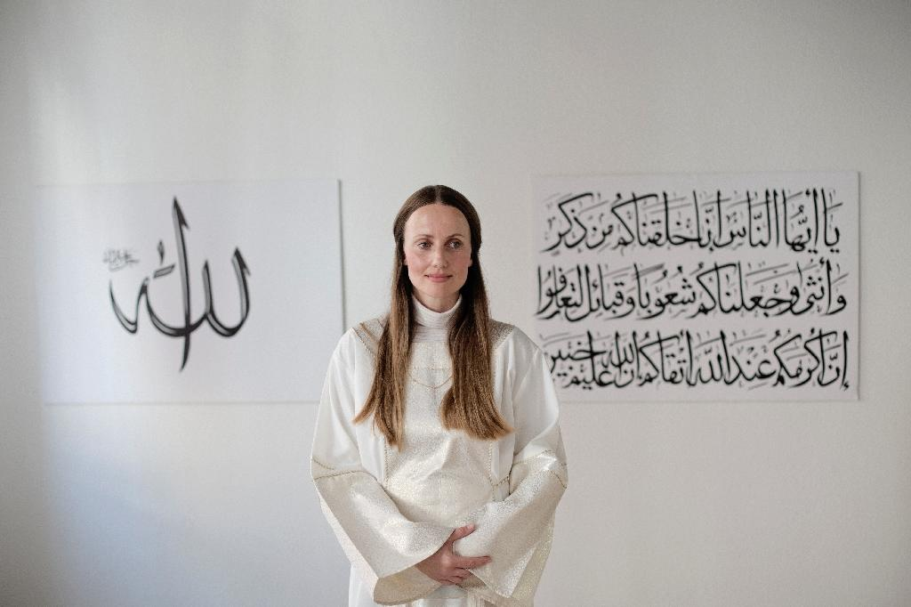 Sherin Khankan is one of five female imams-in- training at the Mariam Mosque in Copenhagen
