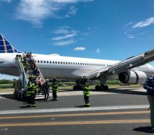United Airlines plane skids off runway after tyres burst on landing at New York airport