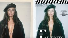 Emily Ratajkowski calls out magazine for making her lips and breasts look smaller