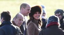 Pregnant Kate Middleton Braves the Cold in Fur Accessories for Church with Sister Pippa