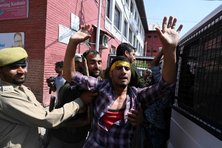 India cut access to Kashmir's internet and phone lines in August (AFP Photo/Tauseef MUSTAFA)
