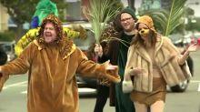 James Corden Recruits Seth Rogen And Rose Byrne For 'Crosswalk the Musical: Lion King'