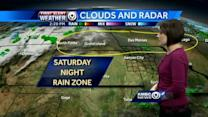 Chance for light rain tonight, storms possible Sunday