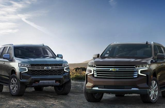 Chevy's 2021 Tahoe and Suburban add OTA updates and big screens