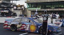 NASCAR Brickyard 400: Harvick wins, Penske mechanic injured after pit road crash