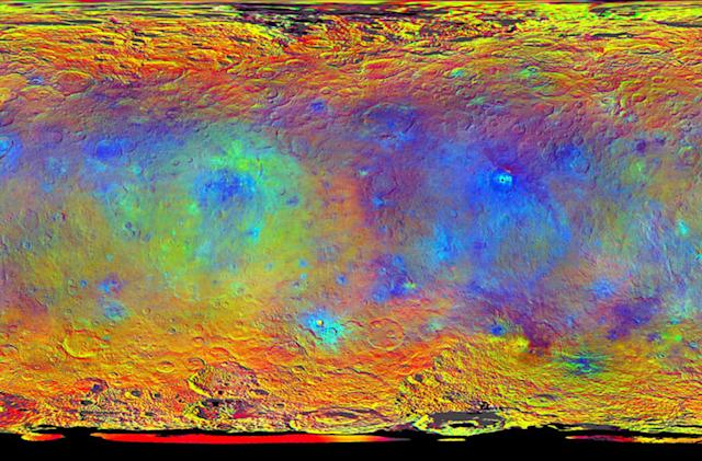 NASA's trippy Ceres map shows what the dwarf planet is made of