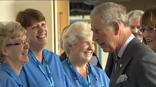 Prince Charles opens new cancer ward