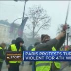 Paris protests turn violent for fourth weekend