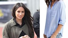 Meghan Markle wore the chicest striped shirt at a photoshoot - and it's just £85