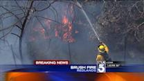 Redlands Wildfire Shuts Down Portion of 10 Freeway