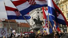 Thousands of Croatian far-right supporters march in Zagreb