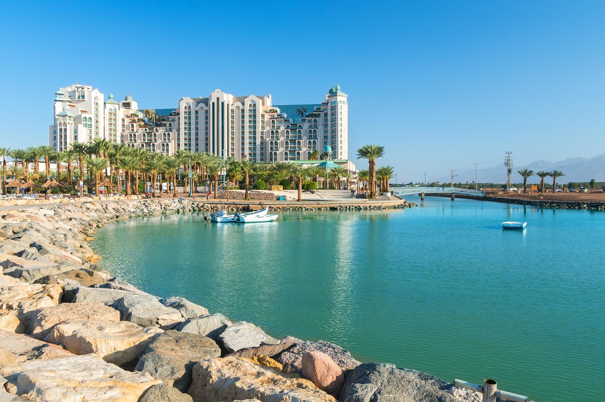 """<p>Eilat is popular with Israeli locals and the bay is a popular attraction with plenty of beautiful beaches and a host of watersports on offer for outdoor enthusiasts.</p>  <p>TripAdvisor recommends a stay at the <a href=""""https://www.tripadvisor.com/Hotel_Review-g293980-d301856-Reviews-Herods_Vitalis_Spa_Hotel_Eilat-Eilat_Southern_District.html"""" target=""""_blank"""">Herods Vitalis Spa Hotel</a>, bookable from £393 per night.</p>"""