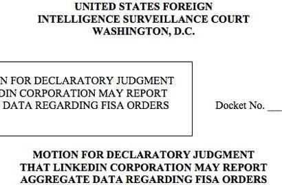 LinkedIn petitions court to provide more details regarding government data requests