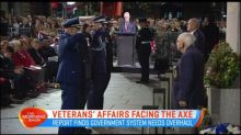 Veterans' Affairs department facing the axe